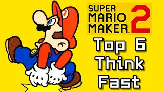 Super Mario Maker 2 Top 6 THINK FAST Courses (Switch)