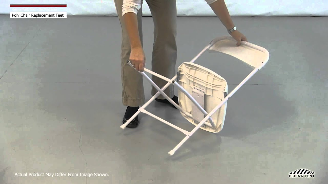 Folding Chair Replacement Feet Eames Molded Replica Poly Caps Youtube