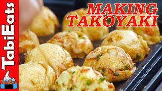 JAPANESE STREET FOOD-How to Make TAKOYAKI (Step-by-Step)