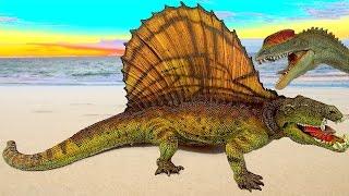 Dinosaur Fight Dinosaurs Battle Dimetrodon vs Dilophosaurus Dinos 공룡 ไดโนเสาร์ SuperFunReviews