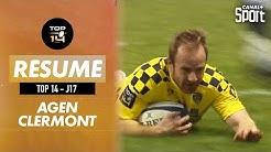 Le résumé Jour De Rugby d'Agen / Clermont