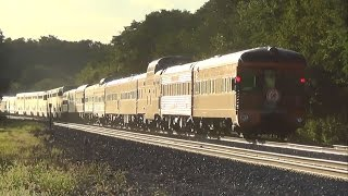 Ten Private Cars on California Zephyr Led by Amtrak 822
