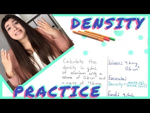 Density Practice Problems | How to Pass Chemistry