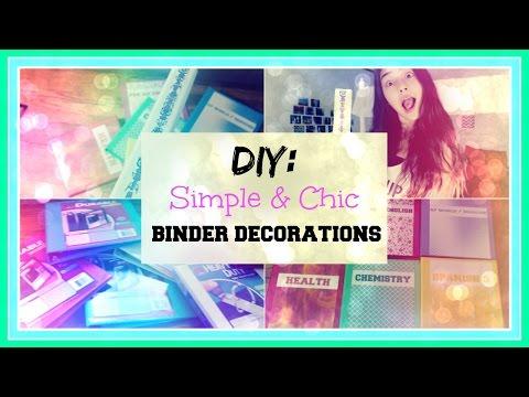DIY Simple & Chic Binder Decorations ♡ | xlivelaughbeautyx
