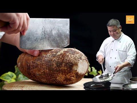 Amazing Knife Skills - Cut Taro L Chinese Recipes By Masterchef
