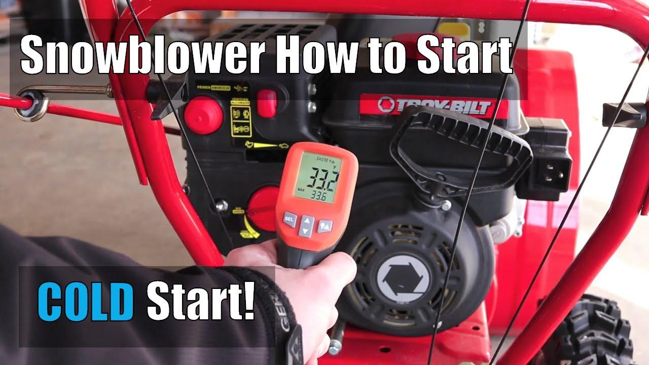 How to Start TROY-BILT STORM 2410 Snowblower  Cold Start