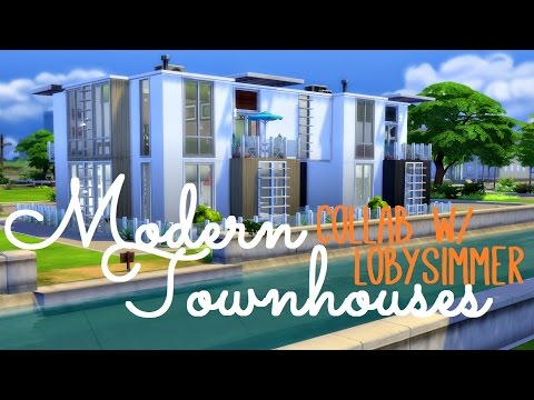 Sims 4 | House Build: Modern Townhouses | Collab w/ Loby Simmer