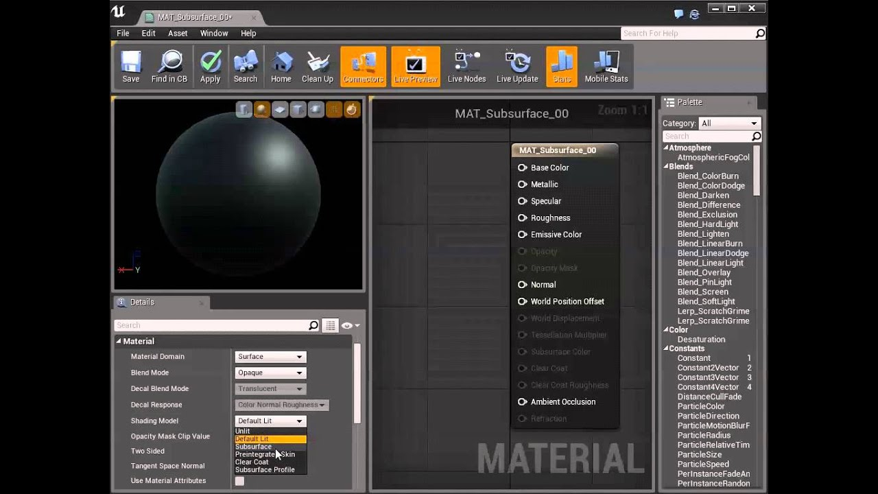 Using Subsurface Scattering in Your Materials | Unreal