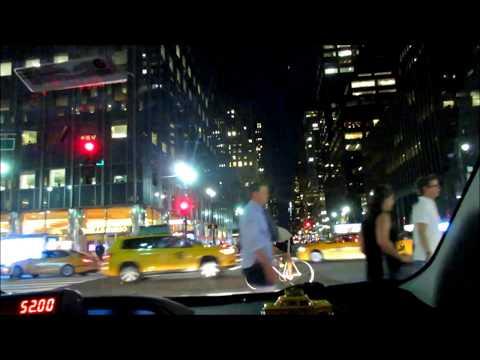 Manhattan , New York City,  Night - way from JFK to 58th street