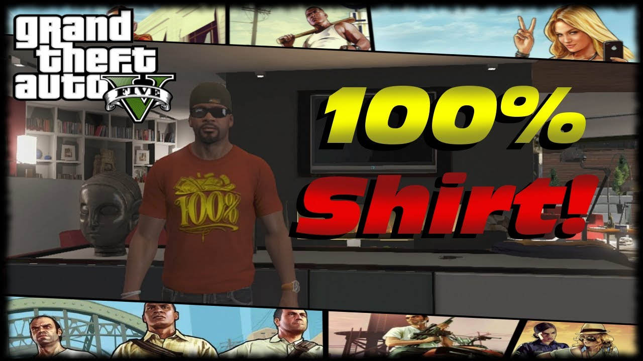 Gta 5 100 completion t shirt reward for franklin 100 percent gta v
