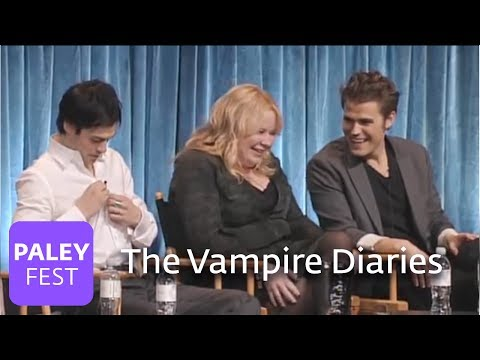 The Vampire Diaries - Matt Davis Kisses Paul Wesley's Wife