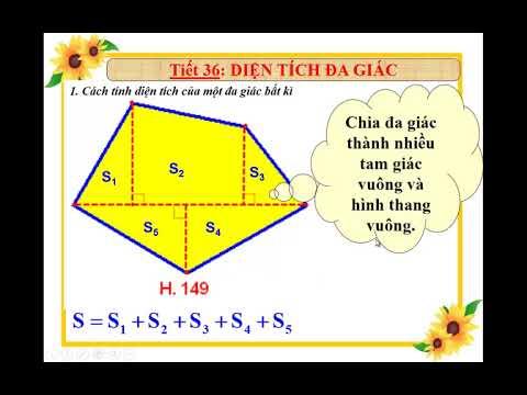 Toán học lớp 8 – Bài 6 – Diện tích đa giác, chia đa giác bằng powerpoint.