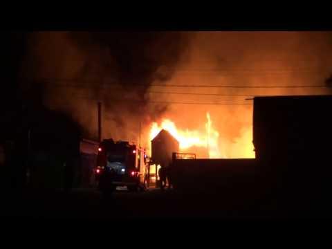 Пожар в Минусинске.