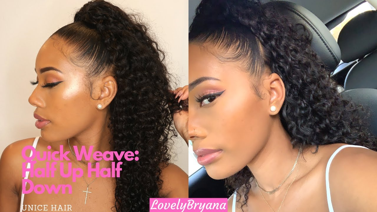 half up half down quick weave | perfect summer style | unice hair x lovelybryana