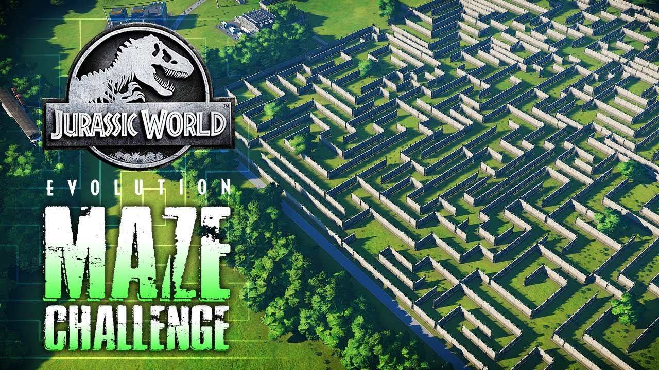 DINOSAUR  MAZE CHALLENGE & RACE! | Jurassic World: Evolution