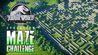 DINOSAUR  MAZE CHALLENGE & RACE! | Jurassic World: Evolution