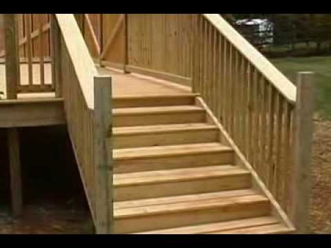how to idea for a deck around an above ground pool youtube - Above Ground Pool Deck Off House