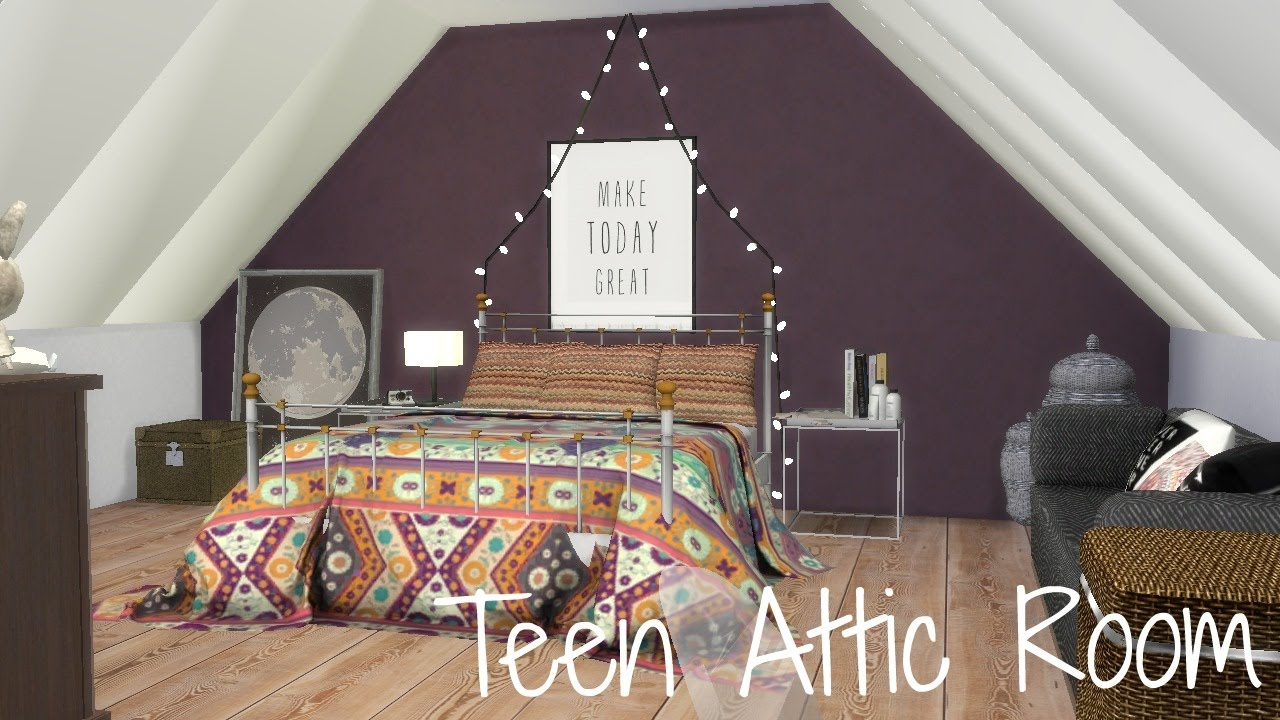 The Sims 4 Room Build: Teen Attic Room