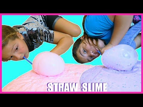 HOW TO MAKE SUPER GIANT SLIME BUBBLES WITH STRAW #25