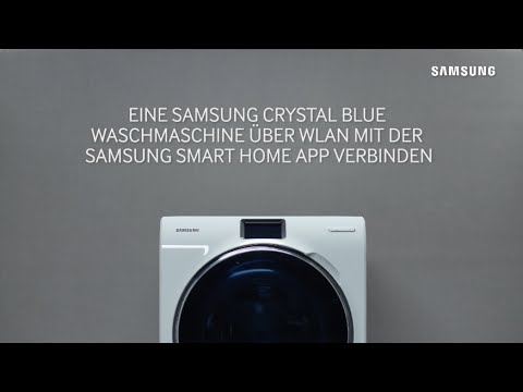 samsung waschmaschinen crystal blue mit smart home app. Black Bedroom Furniture Sets. Home Design Ideas