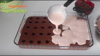 Puding Dolgulu Kek Tarifi / Puding Dolgulu Pasta nasıl yapılır / Hayalimdeki Yemekler
