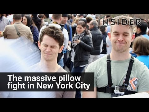 Inside the NYC Pillow Fight