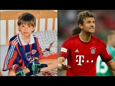 ФК Бавария Мюнхен: Футболисты в детстве и сейчас