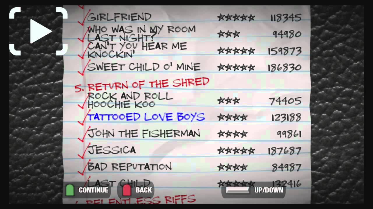 Image Result For Guitar Hero  Songs List