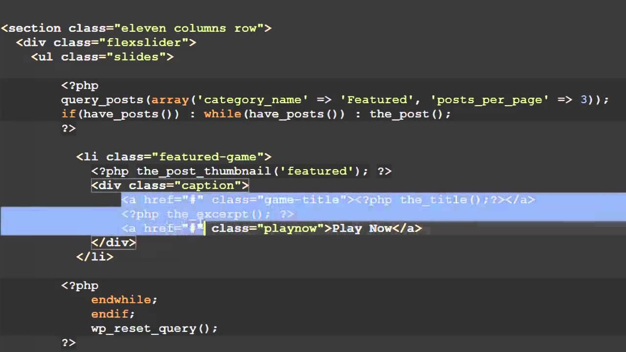 Responsive Wordpress Theme Tutorial Part 9 FlexSlider + WordPress ...