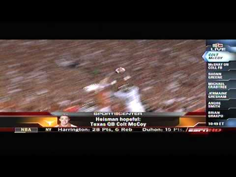 ESPN Sports Center profiles Colt McCoy for The Heisman Trophy