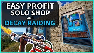 That EASY PROFIT From My SHOP And DECAYED BASES!! Rust Solo Survival Gameplay Ep3