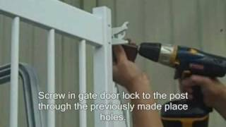 Premium Guard - Above Ground Pool Fence Gate Door Installation