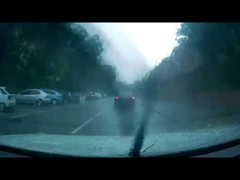 Driving in the rain - Madrid
