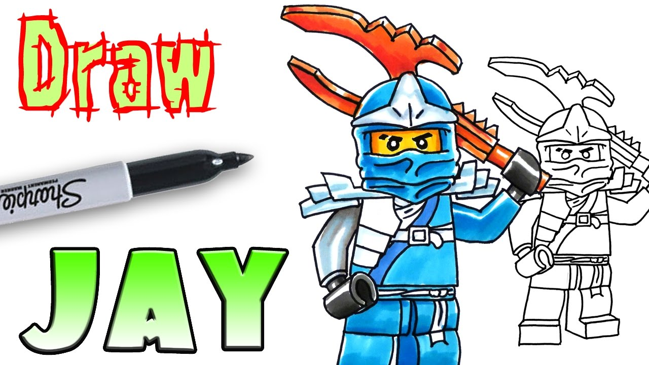 ninjago coloring pages jay How to Draw Jay   Ninjago LEGO   Coloring Pages   YouTube ninjago coloring pages jay