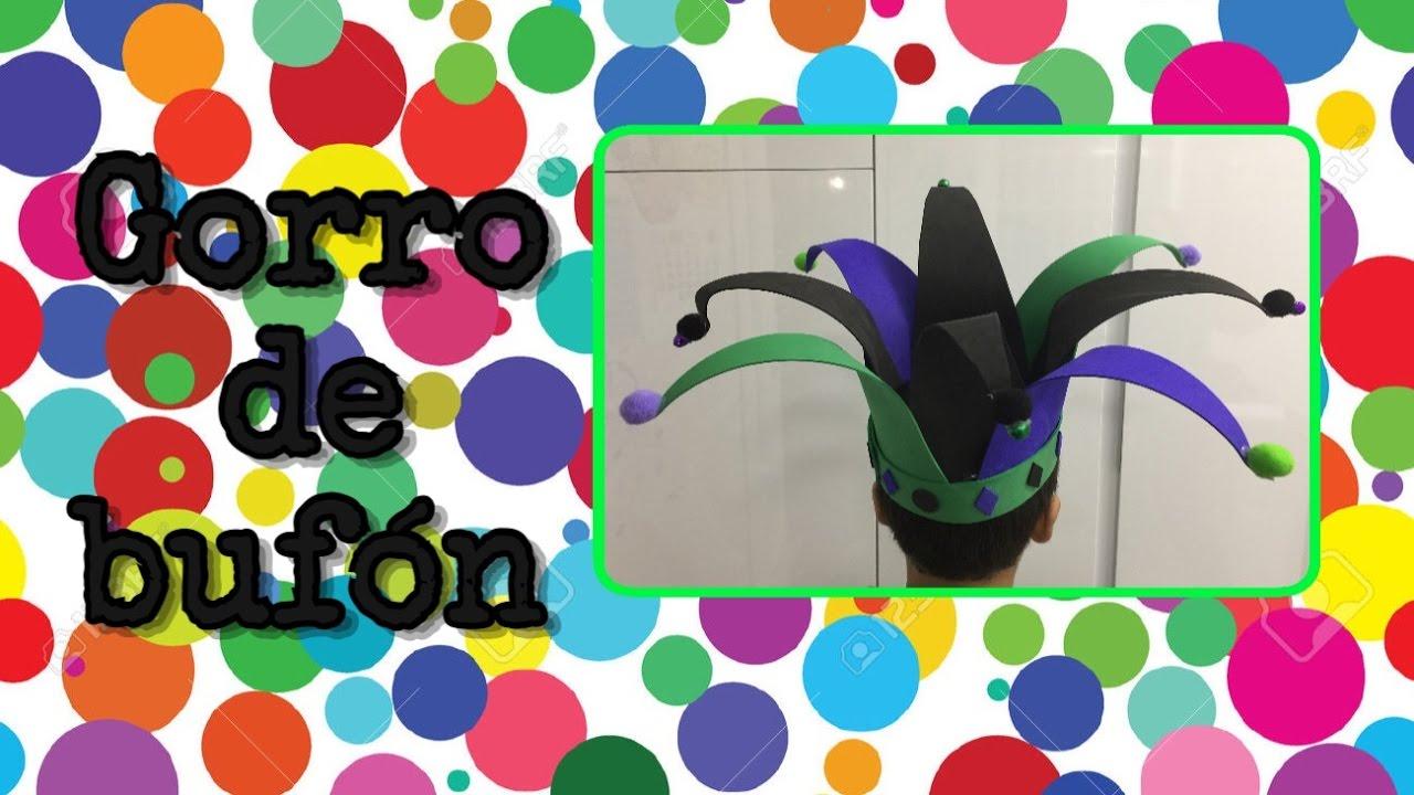 Gorro de bufón (goma eva) - YouTube d8a613e831a1