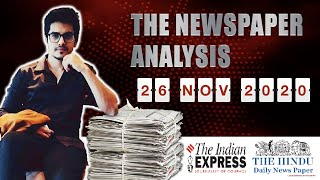 26 November 2020- The Indian Express Analysis by MM
