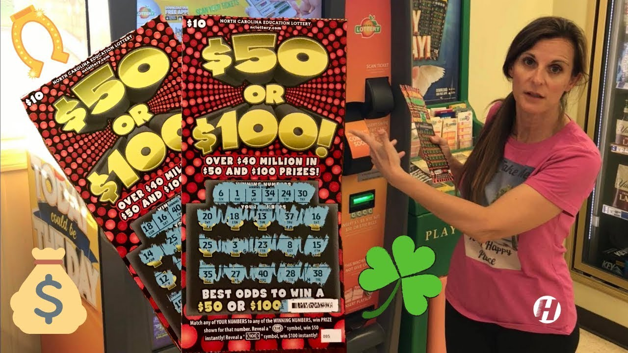 NC SCRATCH OFF 🍀 New $50 or $100 WINNER [2019]