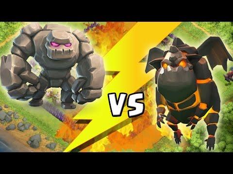 GOLEM vs LAVAHUND || CLASH OF CLANS - BATTLE || Let's Play CoC [Deutsch/German HD+]