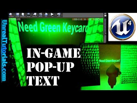 Unreal Engine 4 Tutorial - In-game Pop-up Text