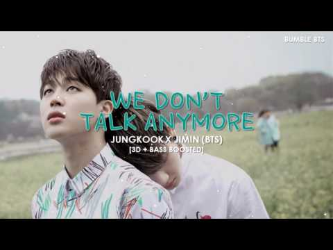 [3D+BASS BOOSTED] BTS (방탄소년단) JUNGKOOK X JIMIN - WE DON'T TALK ANYMORE (PT.2) | bumble.bts