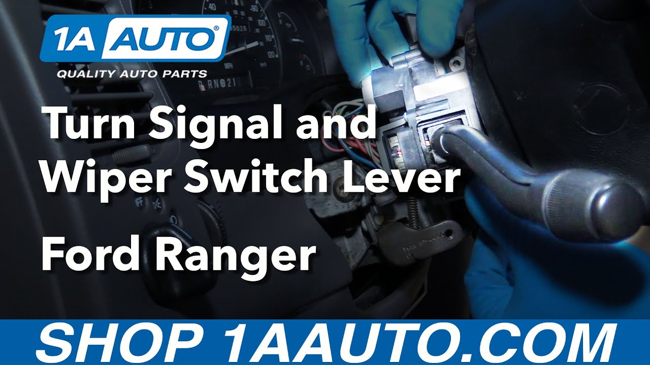 How To Install Replace Turn Signal Wiper Switch Lever 1999 03 Ford For Diagram 1997 Wiring F 350 Directonals Ranger Buy Parts At 1aautocom