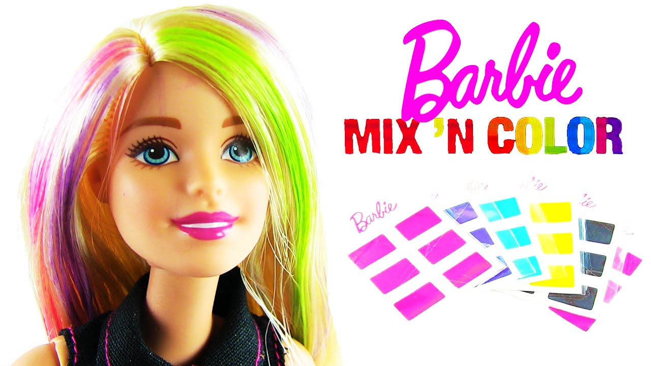 Barbie Saç Boyama Seti Mix N Color Hairstyling Doll Youtube