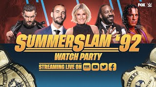 SummerSlam 1992 Watch Party with CM Punk, Booker T and Renee Young | WWE ON FOX