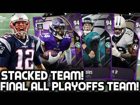 THE FINAL 'ALL PLAYOFFS' TEAM! STACKED TEAM! Madden 18 Ultimate Team