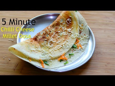breakfast-in-5-minutes---cheese-dosa-recipe---healthy-millet-dosa-for-weight-loss---skinny-recipes