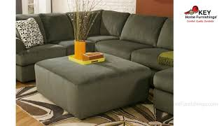 Ashley Jessa Place 3 Piece Sectional With Ottoman 39803L4 | KEY Home