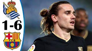 Real Sociedad Vs BArcelona 1-6 All Goals & Highlights 21/03/2021 HD