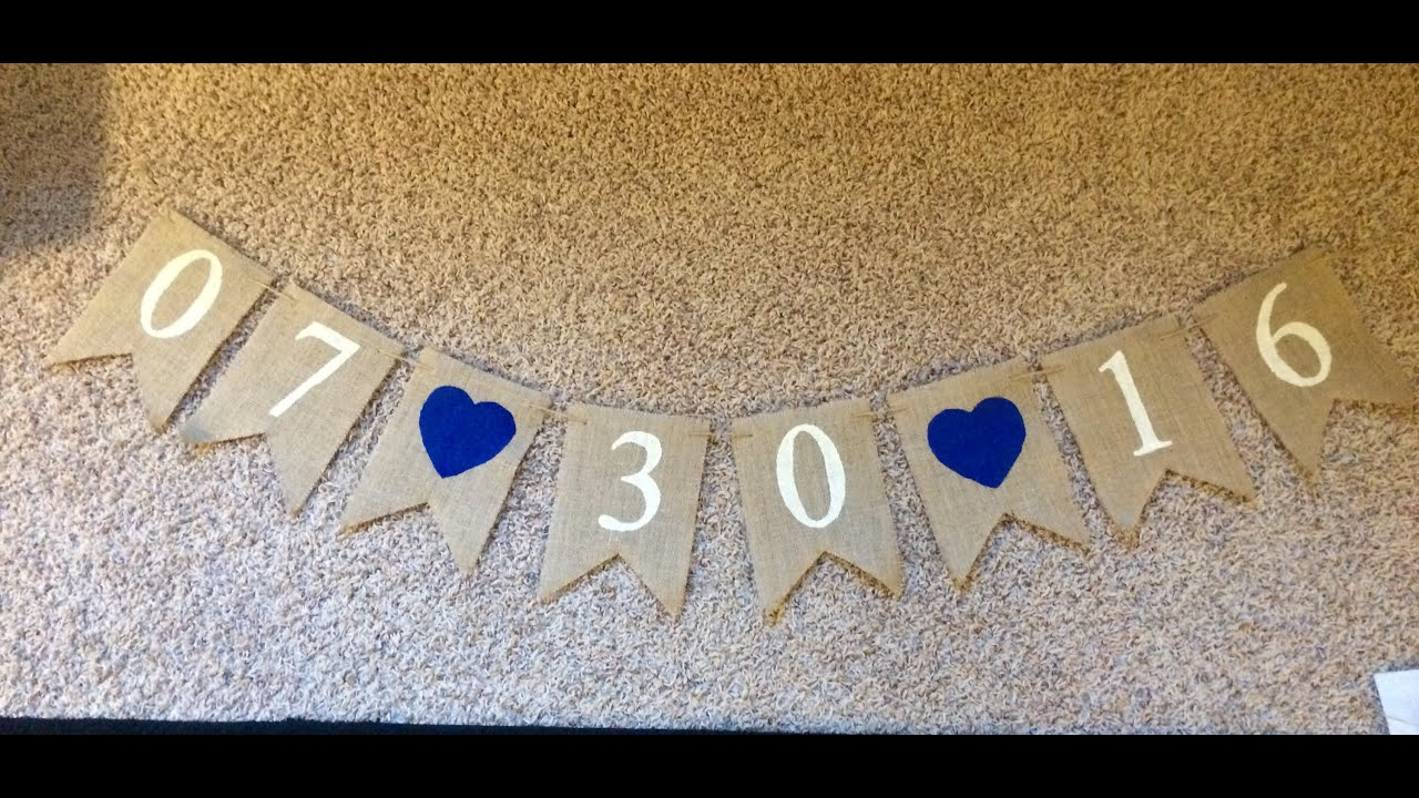 DIY Wedding Date Banner