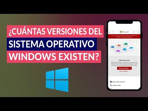 ¿Cuántas Versiones del Sistema Operativo Windows de Microsoft Existen?