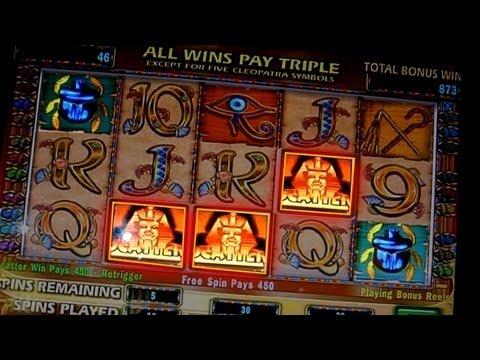 Cleopatra Bonus + ReTrigger - NICE WIN on 5c IGT Slots